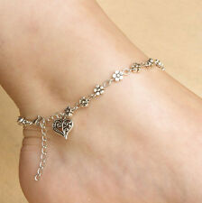 Charm Best Tibetan Silver Plated Daisy Chain Flower Anklet/Ankle Bracelet Gift