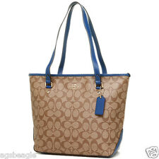 Coach Bag F34603 Signature Zip Top Tote Bright Mineral Agsbeagle COD