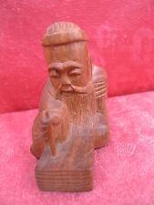 Schöne,alte Holzfigur__chinesischer Mönch_!