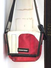 Freitag Tasche Messenger in Rot/Weiss, ca 26 x 30cm. Kultige Rarität, selten !!!