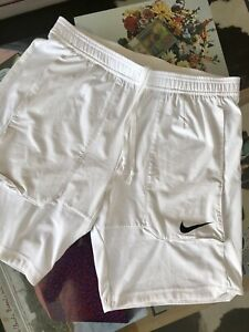 Nike Dri Fit Shorts M White Tennis Running Training