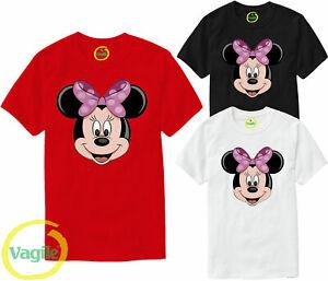 Disney Minnie And Mickey Mouse Cute Cartoon T-shirt Girls Women Ladies Top UK