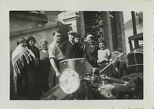 PHOTO ANCIENNE - VINTAGE SNAPSHOT - MOTO MOTOCYCLETTE GROUPE - MOTORCYCLE