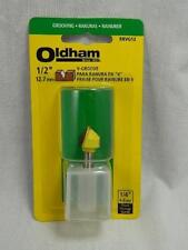 """NEW OLDHAM TOOLS GROOVING V GROVE ROUTER BIT 1/2"""" 1/4"""" SHANK PART # 650294-00"""