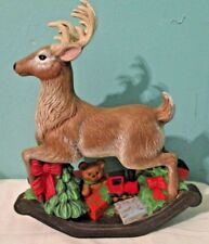 Large Reindeer rocking Horse with Gifts statue Holland Mold