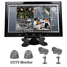 "10"" Color Touch Button Screen Speaker CCTV Monitor PC Security VGA HDMI DE STOCK"