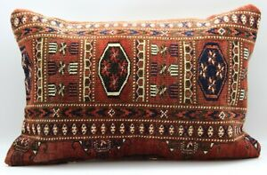 Antique Turkish Rug Pillow Cover 16'' X 24''(40X60 cm)