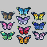 10 x Embroidery Butterfly Sew Iron On Patch Badge Embroidered Applique. S3O7