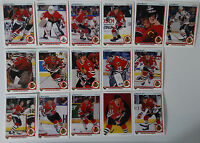 1990-91 Upper Deck UD Chicago Blackhawks Team Set of 16 Hockey Cards