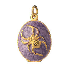 Faberge Egg Pendant / Charm with Spider 1'' (2.5 cm) #P04-13B