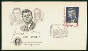 Mayfairstamps Argentina 1964 JFK Unsealed First Day Cover wwp4875