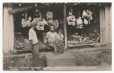 POSTCARD-CEYLON-RP. A Native Boutique, Showing A Great Variety of CEYLON Fruits