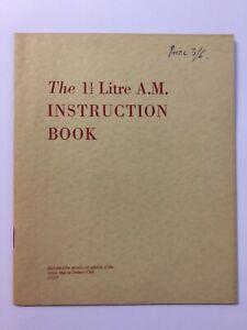 Aston Martin 1 1/2 litre AM instruction book