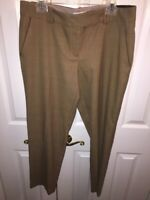 Ann Taylor LOFT Womens Marisa Dress Pants Brown Houndstooth Stretch Lean 12 New