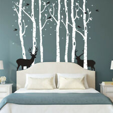 Wall Decal Removable Mural Sticker huge Tree Trunk and bird deer Wall Decoration