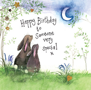 Someone Special Bunny Birthday Card - Alex Clark Small Sparkle