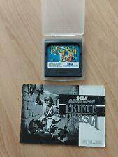 SEGA Game Gear -Prince of Persia  - Modul, Plastikhülle u. Anleitung