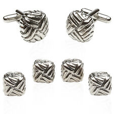 Silver Formal Set with Gift Box Direct from Cuff-Daddy