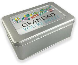 Personalised sweet treats tin box, metal storage chocolate gift tin box EB915-1