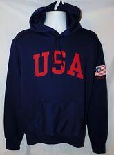 New Men's Polo Ralph Lauren USA Flag Pullover Fleece Hoodie Size XL