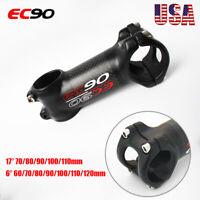 EC90 Carbon+AL Stem 6/17 Degree 31.8*60-120mm Diameter MTB Road Bike Bar Stem