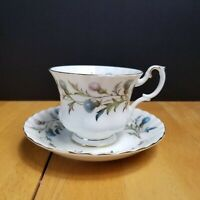 Royal Albert Brigadoon Bone China Footed Cup & Saucer Set England