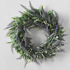 Door Hanging Artificial Lavender Flower Wreath Wall Garland Home Wedding Decor