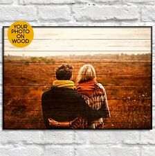 Gifts for Men gift for Wife Wood photo on wood frame Personalised birthday gift