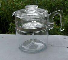 9 Cup Pyrex Flameware Glass Coffee Pot Stove Top Percolator ~ 7759 B