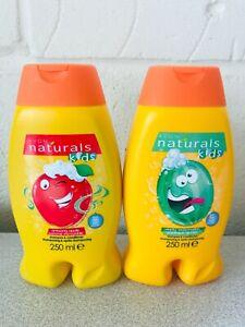 Avon Naturals Kids Shampoo & Conditioner, Apple & Watermelon NEW 2 x 250ml