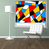 Abstract Art Pattern Shapes Picture Photo window roller blind