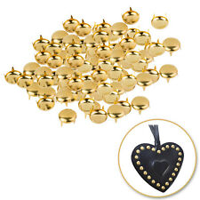 500pcs 6mm Round Gold Dome Studs Metal DIY Embellishment Leathercraft Bags Belts