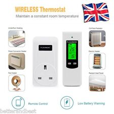 LCD Digital Wireless RF Thermostat Temperature Controller Heater UK Plug In New