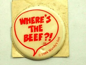Where's The Beef Original Kids Meal Wendy's Int. Puff Sticker 1984