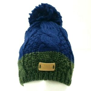 Aran Traditions Womens Ladies Cable Knit Hat Warm Winter Beanie Pom Pom Acrylic