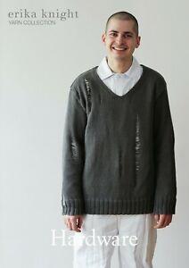 Erika Knight Men's Sweater Knitting Pattern Hardware In DK (Gossypium Cotton)