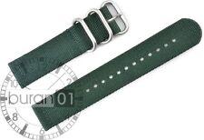 Uhrenarmband Wasserfest CUT Militär  Strong dunkelgrün 18mm,20mm,22mm,24mm 26mm