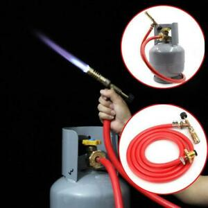 Liquefied Gas Ignition Plumbing Turbo Torch + Hose Solder Propane Welding