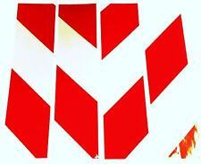 "Reflective adhesive vinyl hazard chevrons red/white 4 x 8"" x 2"" signs/trailers"