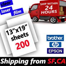 "200 sheets,13"" x 19"",Transparency Laser Printer Film Paper Silk Screen Printing"