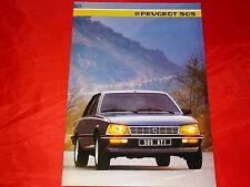 Peugeot 505 Berline GL GLD T GTi GTD TURBO INJECTION prospectus de 1985
