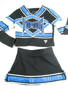"""Child Cheerleader Uniform Cheer Costume Outfit TOP DOG 26"""" Top 22"""" Skirt Bling"""