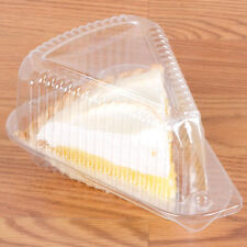 Polar Pak 3210 Medium Hinged OPS Plastic Pie / Cake Slice Container 20/Pack