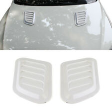 2x Car Decorate Air Flow Intake Scoop Turbo Bonnet Vent Cover Hood Fender White
