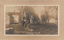 ME- REAL PHOTO 1910's Main Street South Brewer, Maine - Penobscot County