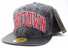 LEGENDARY CHI TOWN LOGO HEAVYWEIGHT LEATHER VISOR SNAPBACK FLAT BILL CAP/HAT