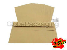 1000 x DL Plain Manilla Self Seal Brown Envelopes 110x220mm SS 85gsm *OFFER*