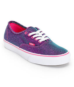 VANS Authentic  MAGENTA SHIMMER Womens Shoes (NEW) Purple Pink Sparkle FREE SHIP