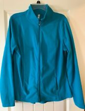 310576ce4a PRETTY LADIES TURQUOISE FLEECE JACKET SIZE L GREAT CONDITION!