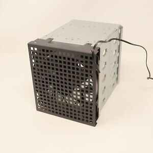 """5-Bay 3.5"""" Hard Drive Rack Cage Enclosure with Fan"""